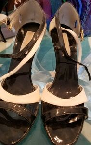 Michael Kors black and white sandals size 37.5